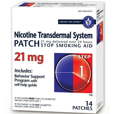 Habitrol Nicotine Transdermal System Patch 21 mg Stop Smoking Aid, Step 1 14 (Smoking With A Nicotine Patch On Side Effects)