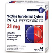 Habitrol Nicotine Transdermal System Patch 21 mg Stop Smoking Aid, Step 1 14 ea