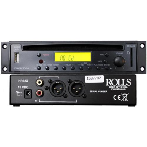 Rolls HR72X Cd Mp3 Player With Xlr Outputs