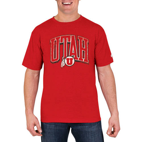 NCAA Utah Utes Men's Cotton/Poly Blend T-Shirt