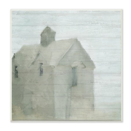 Farm Shop Plans - The Stupell Home Decor Collection Misty Morning Farmhouse Painting Wall Plaque Art, 12 x 0.5 x 12