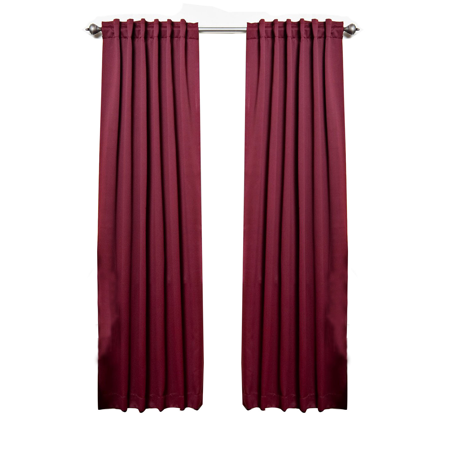 """Solid Thermal Insulated Blackout Curtain 84""""L- 1 Set-BURG..."""