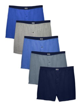 Fruit Of The Loom Men's Dual Defense Assorted Knit Boxers, 5 Pack