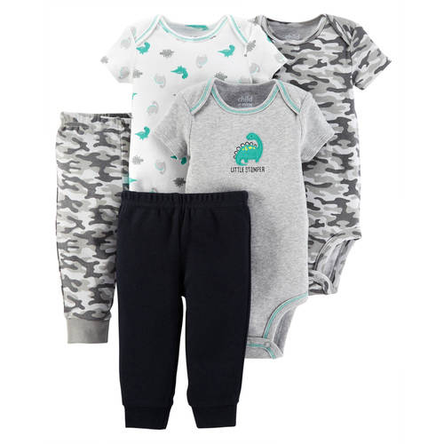 Child Of Mine By Carter's Newborn Baby Boy Bodysuits & Pants, 5 Pc Set