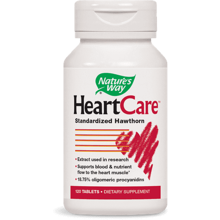 Natures Way HeartCare Standardized Hawthorn Supplement 120
