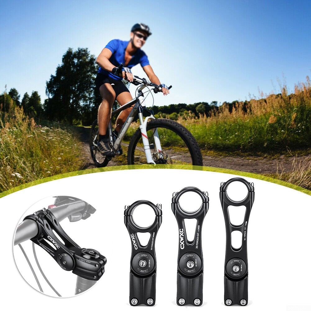 31.8*90 //110//145mm Adjustable Rise Up Handlebar Stem For MTB Road Bicycle Black