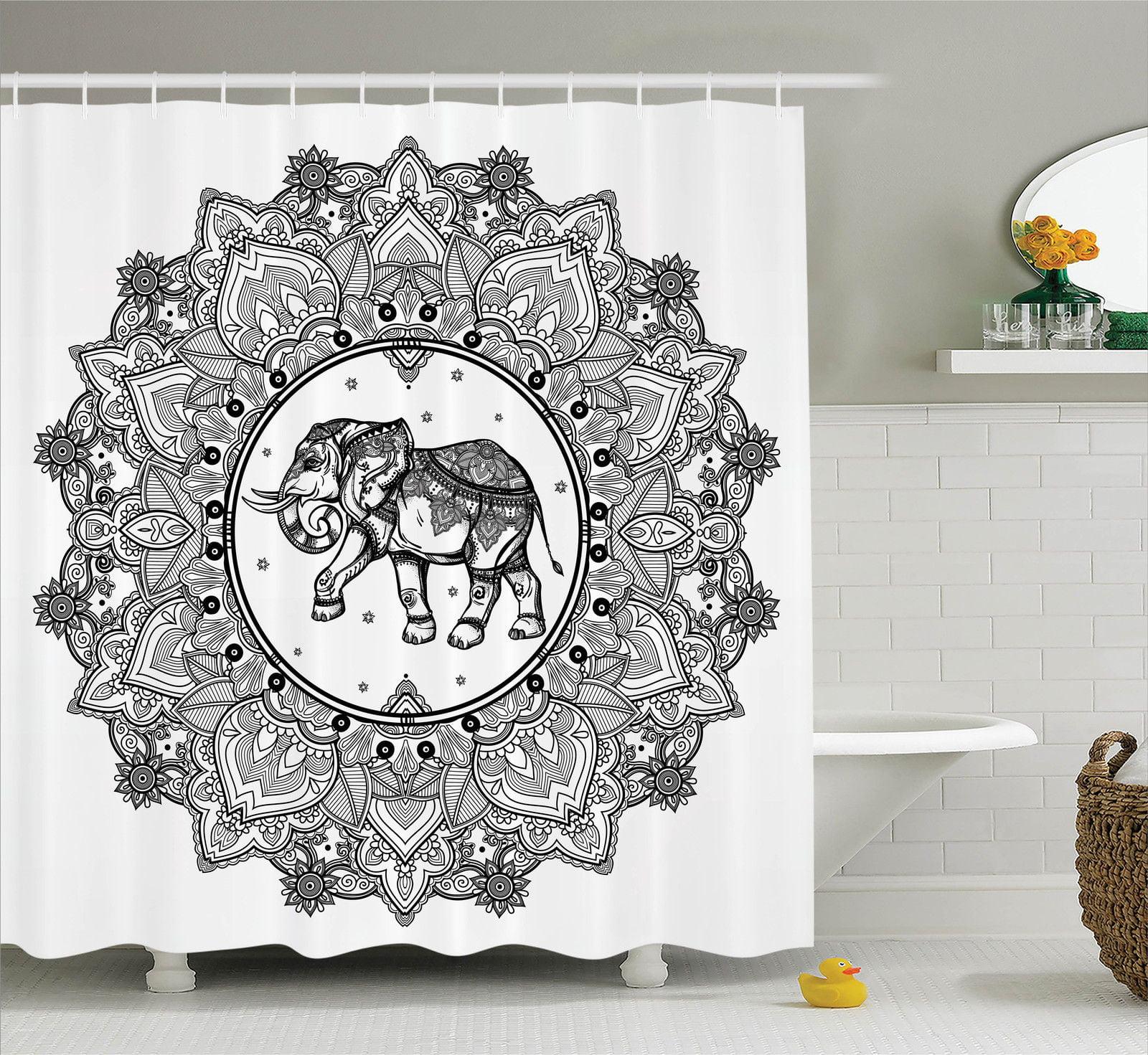 Mandala Decor  Digital Paisley Mandala Motif With Elephan...