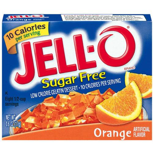 Jell-O Sugar Free Low Calorie Orange Gelatin Dessert, .6 Oz