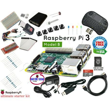 2018 Raspberry Pi 3+ 1.4Ghz & Ultimate Starter Kit - Wifi, HDMI, SD Card Class