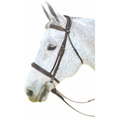 De Leather Bridle (Henri de Rivel Pro Stress-Free Fancy Leather Bridle with Patent Piping )