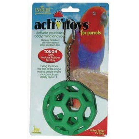 JW Pet Company Activitoys Hol-ee Roller Bird Toy ( Color May Vary ) The Hol-ee roller for birds is a creative self play toy designed to challenge your birds intellect and provide a reward when they learn how it works. This 100% natural rubber toy hangs from a chain and is designed to be stretched and filled with treats. All of our products comply with international quality standards and are greatly appreciated.If you are interested in any of our products or would like to discuss a custom order, please feel free to contact us. High quality, good service.We are looking forward to forming successful business relationships with new clients around the world in the near future.
