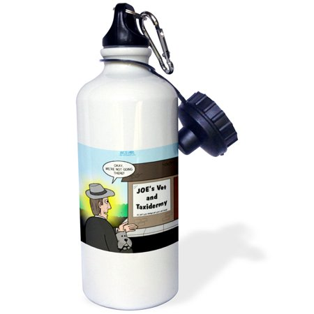 3dRose Joes Vet and Taxidermy Where You Always Get Your Pet Back, Sports Water Bottle, 21oz