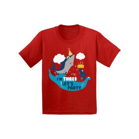 Awkward Styles 3rd Birthday Tshirt Cute Gifts for 3 Year Old Shark Birthday Shirt for Boys Shark Birthday Shirt for Girls 3rd Birthday Party Toddler Shirts I'm Three Tshirts