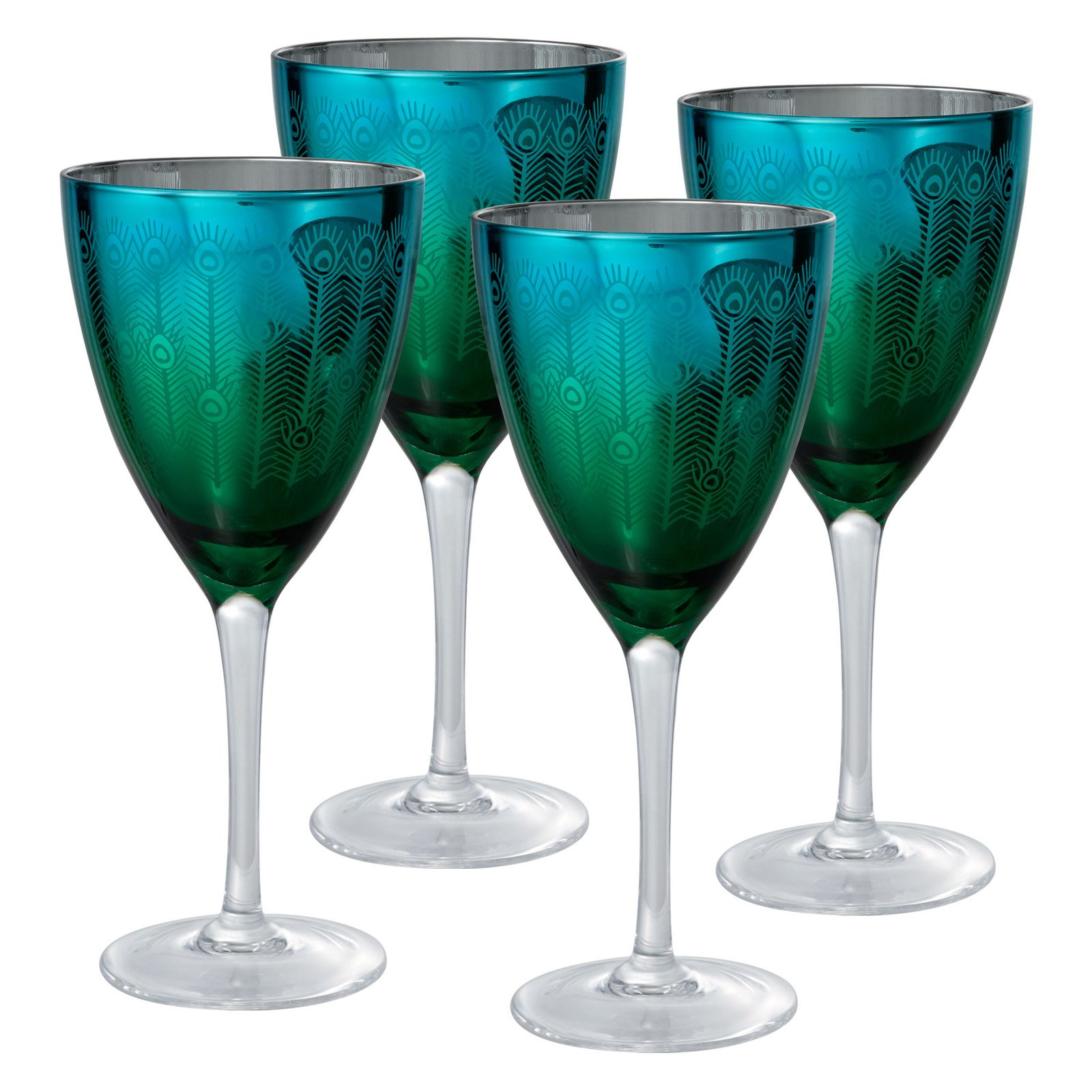 Artland Inc. Peacock Wine Glasses - Set of 4