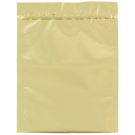 Jam Paper Foil Envelopes With Zip Lock Closure   5 1 2 X 7 1 2   Gold   1000 Carton