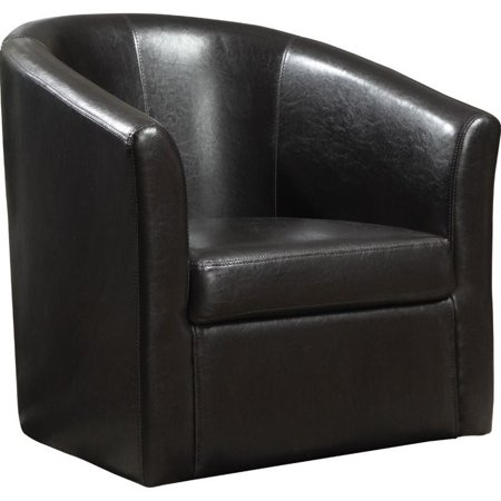 Coaster Leather Club Chair In Brown Walmart Com