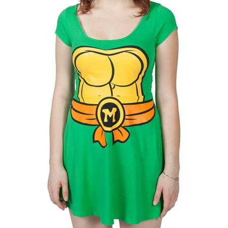 Teenage Mutant Ninja Turtles I Am Michelangelo Women's Skater Dress - Teenage Mutant Ninja Turtles Fancy Dress Ladies