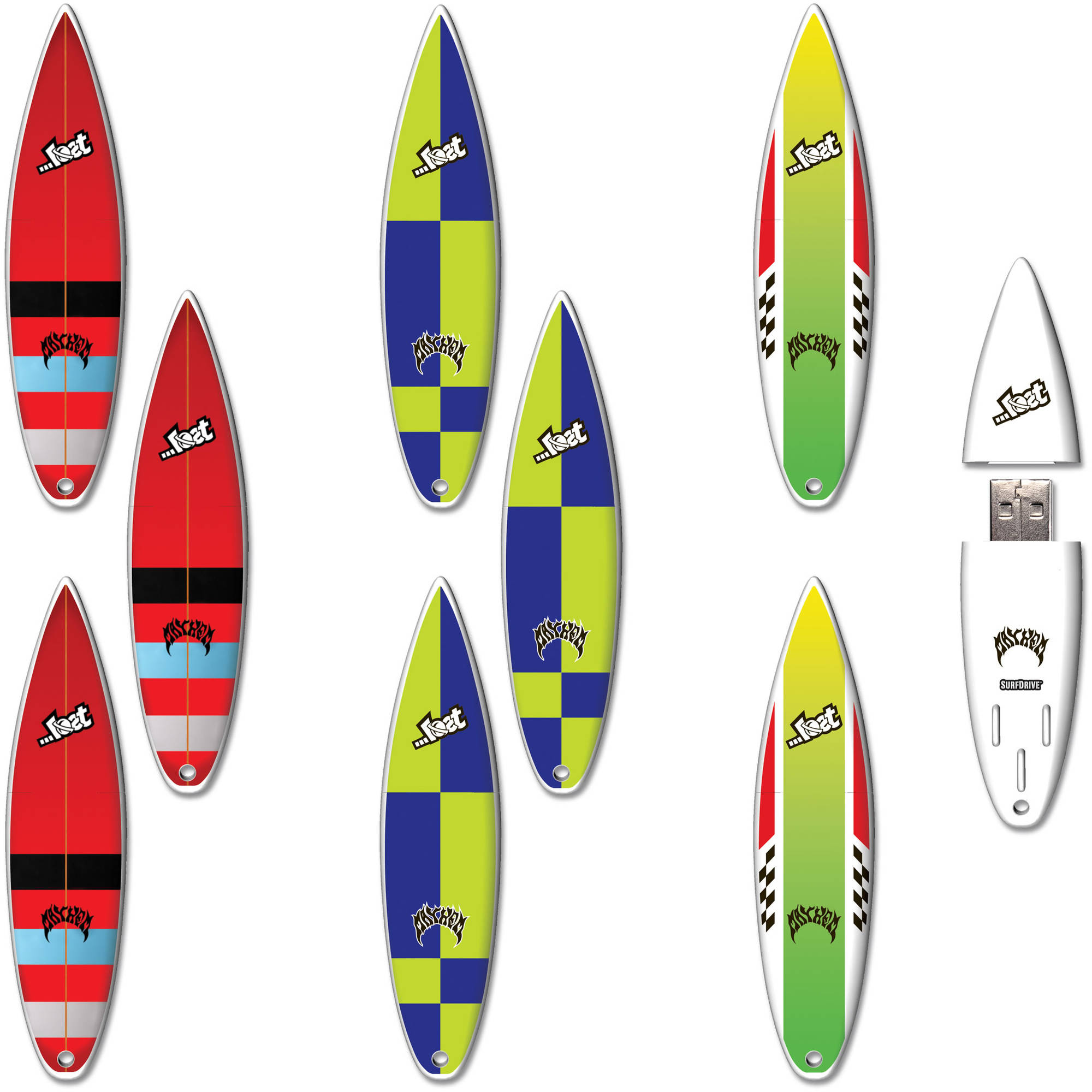 8GB SurfDrive Lost: Bottom Feeder, RV2, Horan USB Flash Drive, 9-Pack