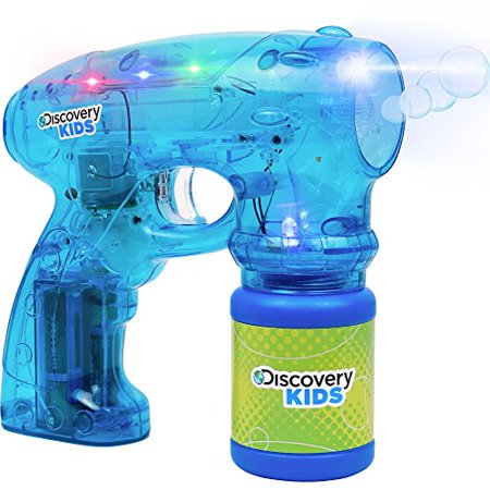 Discovery Kids Click N' Play Translucent Bubble Blaster with LED Flashing Lights](Bubble Led)