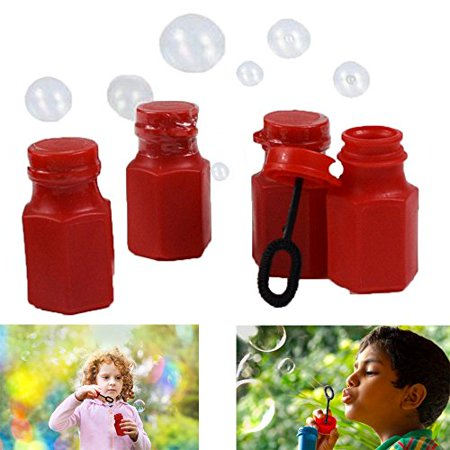 Dazzling Toys Mini Hexagon Red Bubble Bottles - Pack of 12 - Add Some