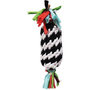 "Super Scooch Rope Gummer with Squeaker Dog Toy, 11"", Black and White"