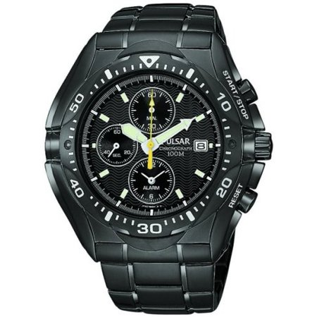 Men's PF3663 Tech Gear Alarm Chronograph Black Ion Watch