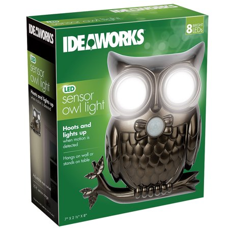 Super Bright LED Owl Motion Sensor Light Shines & Hoots To Announce (Make Your Own Led Grow Light Panel)