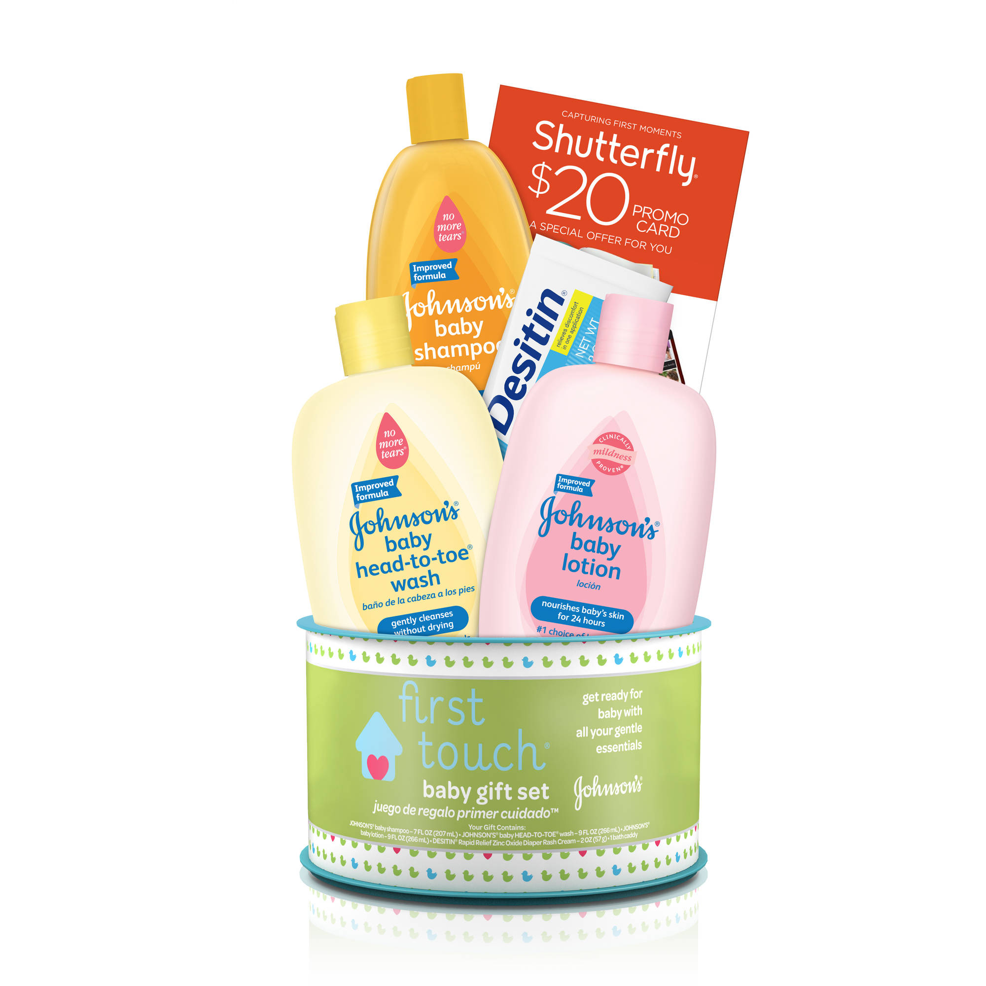 Johnson's first touch baby gift set, 4 Items