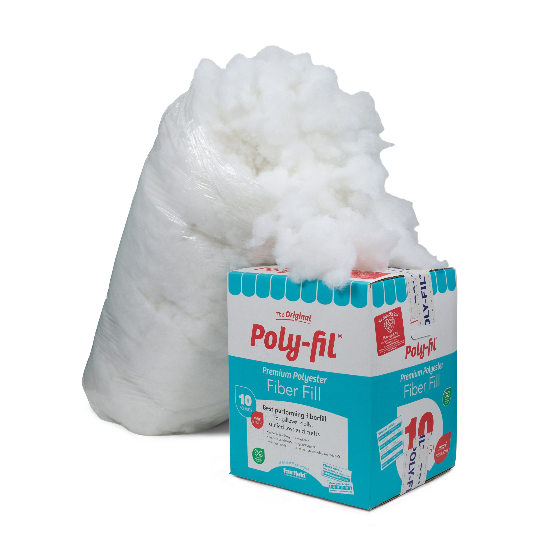 Poly-Fil Premium Polyester Fiberfill - 10 Pound Box