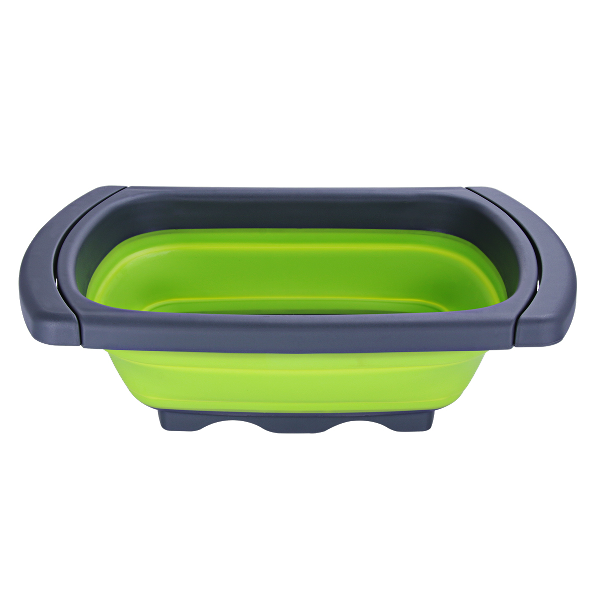 Sleek Professional Collapsible Colander Silicone Strainer With Extendable  Handles Over The Sink Space