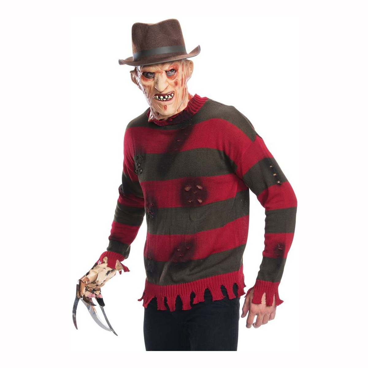 A Nightmare On Elm Street Adult Freddy Krueger Costume Sweater Size