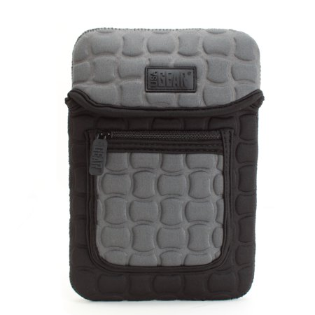 """Image of FlexARMOR X Neoprene eReader Sleeve By USA Gear with Shock Block Protection and Front Accessory Pocket for RCA Voyager 7"""" Tablet"""