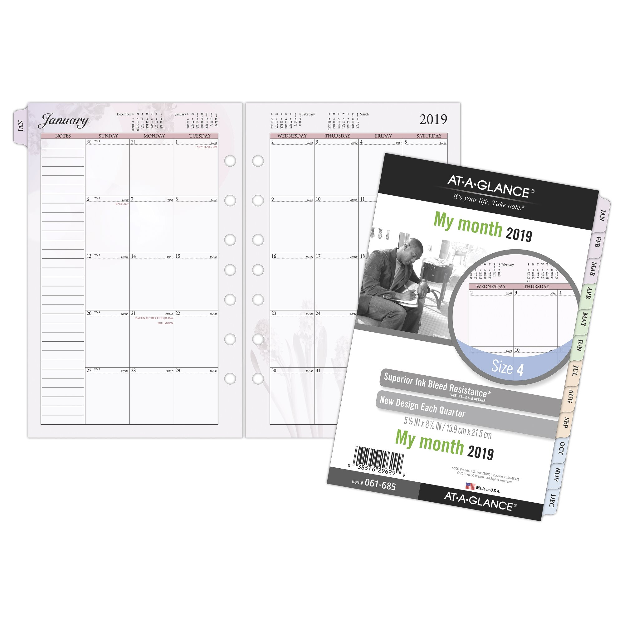 At-A-Glance Day Runner Nature Monthly Planner Refill Size 4 Monthly Planner by AT-A-GLANCE Day Runner