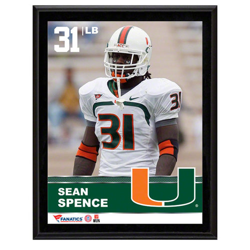 NCAA - Sean Spence Sublimated 10x13 Plaque | Details: Miami Hurricanes