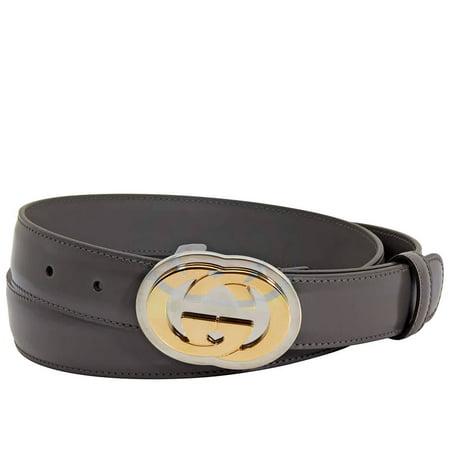 Gucci Men's Interlocking G Buckle Leather Belt