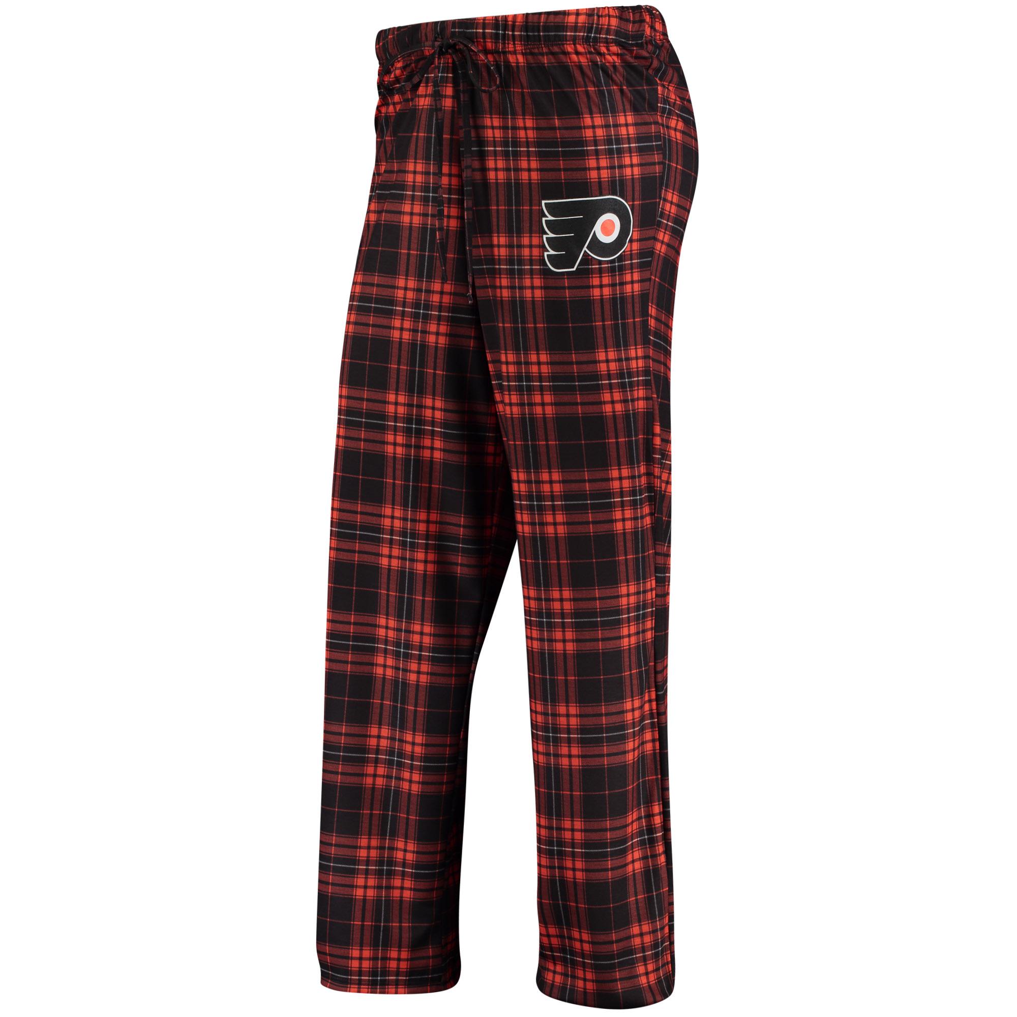 Philadelphia Flyers Concepts Sport Women's Plus Size Rush Knit Flannel Pants - Black/Orange