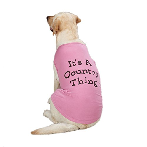Zack & Zoey Cotton Country Thing Dog Tank Top, Small, Pink