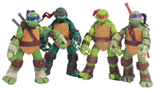 "4pcs Teenage Mutant Ninja Turtles 4.7"" Classic Collection Basic Action Figure Set by"