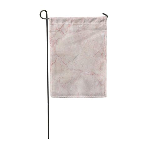 - KDAGR Red Bathroom Pink Italian Marble Natural Pattern Beige Cream Garden Flag Decorative Flag House Banner 12x18 inch