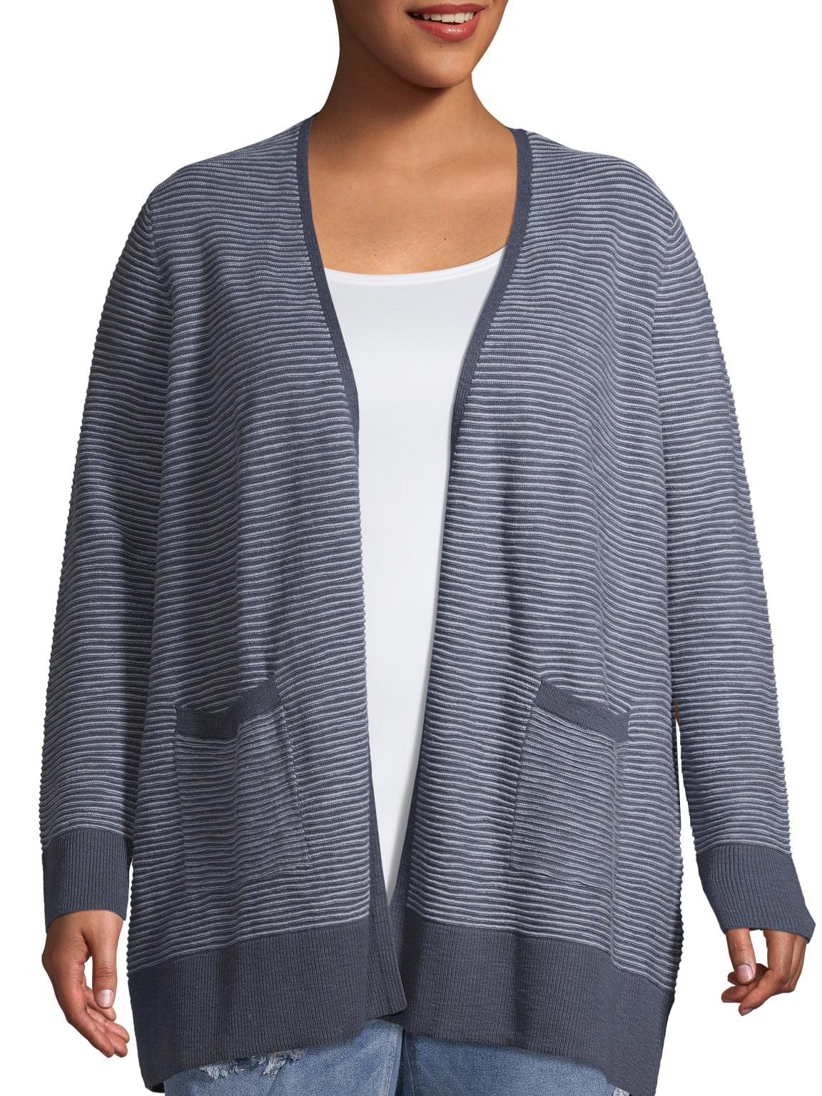 1X//2X//3X New Black Lace Long Swing Cut Jacket Cardigan Duster  Top Sweater