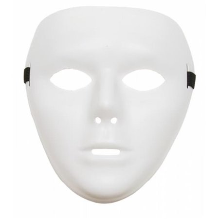 White Full Face Dance Jabbawokeez Plastic Costume Mask, One Size - Plastic Masks