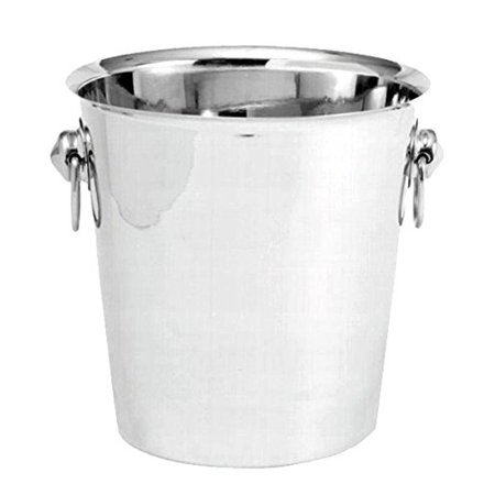 Bucket, Stainless Steel Champagne / Wine Bucket With Handle --- 1 Each., Holds about 4 quarts By Johnson