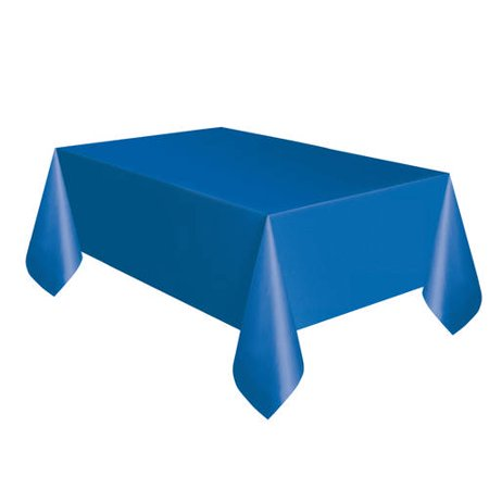 (2 pack) Unique Royal Blue Plastic Tablecloth, 108 x 54 in, 4ct total - Blue Plastic Tablecloth