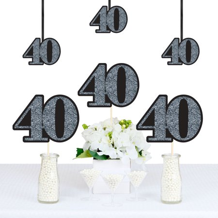 Adult 40th Birthday - Silver - Decorations DIY Party Essentials - Set of 20 - 40th Birthday Party Ideas For Wife