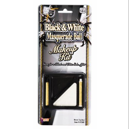Black & White Makeup Costume Accessory - Halloween Black And White Makeup