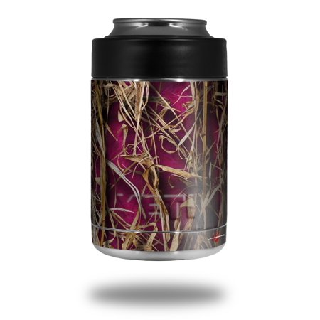 Skin Decal Wrap for Yeti Colster, Ozark Trail and RTIC Can Coolers - WraptorCamo Grassy Marsh Camo Neon Fuchsia Hot Pink (COOLER NOT INCLUDED) by WraptorSkinz Hop Pink Camo