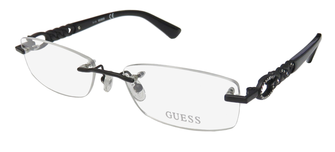 New Guess 2557 Womens/Ladies Designer Rimless Black Frame Demo ...