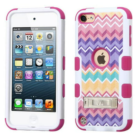 Apple iPod Touch 6th, 5th Generation Case - Wydan TUFF Hybrid Hard Shockproof Case Kickstand Protective Heavy Duty Impact Skin Cover Pink Purple