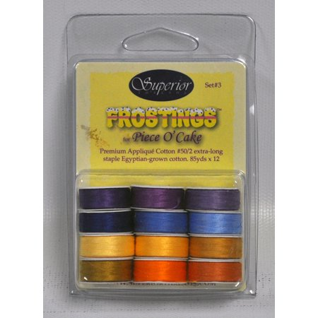 Frostings Prewound Bobbins Masterpiece Thread Set 3 L Style 12ct