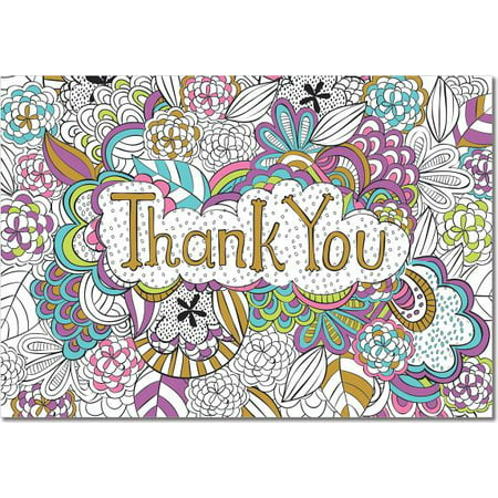 Color Me Thank You Notes (Stationery, Note Cards, Boxed Cards) - Stationery Shops Near Me
